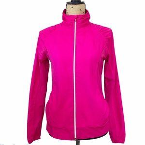 Lija Golf Pink Fuchsia Full Zip Jacket Size Medium